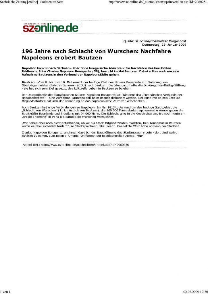 090129 Sachsische Zeitung online..
