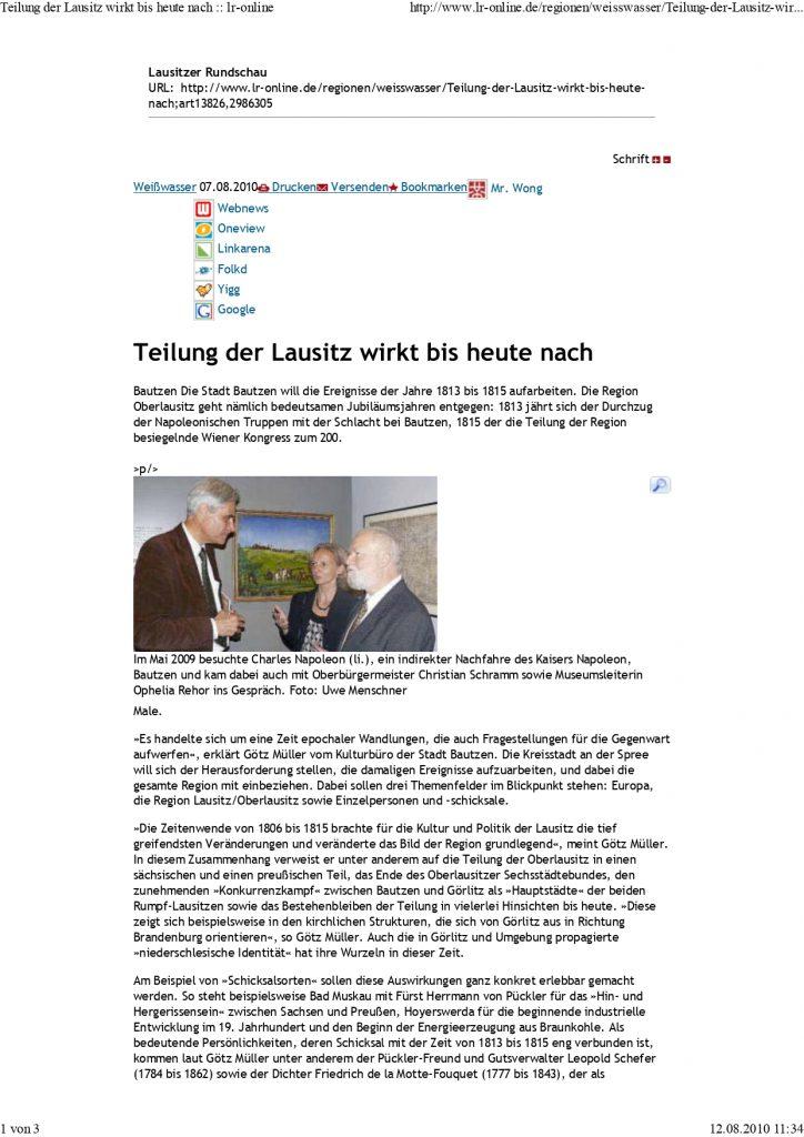 100807 Lausitzer Rundschau Teilung der Lausitz wirkt b.. page 0001